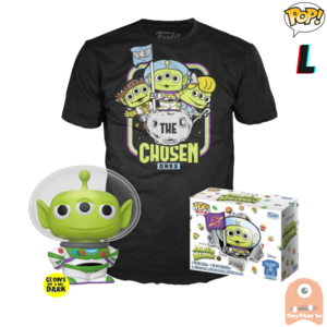 Funko POP! & TEE BOX Pixar Alien Remix As Buzz GITD Exclusive - Large