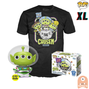 Funko POP! & TEE BOX Pixar Alien Remix As Buzz GITD Exclusive - X-Large
