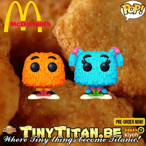 Funko POP! Ad Icons McDonald's - 2-Pack Fry Guy Orange / Blue Pigtails Pre-Order