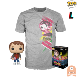 Funko POP! & TEE BOX Back To The Future - Marty w/ Hoverboard Exclusive - Large