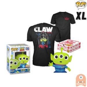 Funko POP! & TEE BOX Pixar Alien Pizza Planet Glitter Translucent Exclusive - X-Large