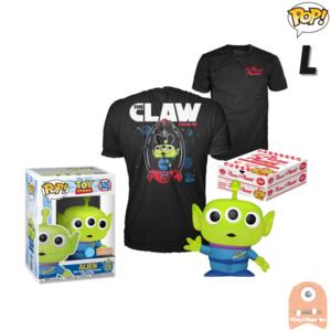 Funko POP! & TEE BOX Pixar Alien Pizza Planet Glitter Translucent Exclusive - Large