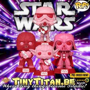 Funko POP! Valentine Bundle of 4 Star Wars Pre-Order