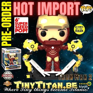 Funko POP! Iron Man MarkiV w/ Gantry GITD 6 INCH - Marvel Iron Man 2 Exclusive Pre-order