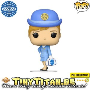 Funko POP! Stewardess W/ White Bag - Pam Am Pre-order