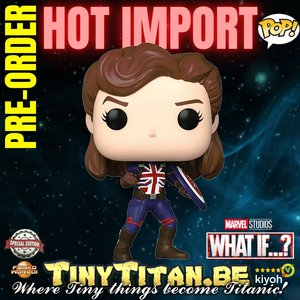 Funko POP! Captain Carter battle Pose -Marvel What If? Exclusive Pre-order