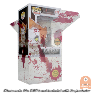 "5 Pack PPJoe Standard 4"" Blood Splattered Funko POP Protectors 0.45mm Thickness"