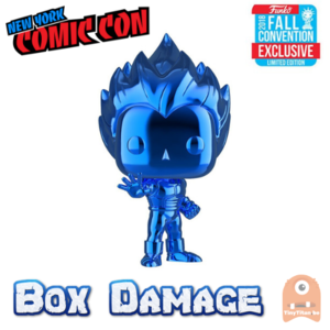 POP! Animation Super Saiyan vegeta Blue Chrome #154 - NYCC DMG