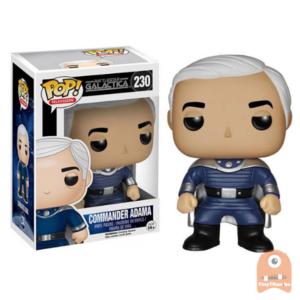 POP! Television Commander Adama #230 Battlestar Galactica - Vaulted